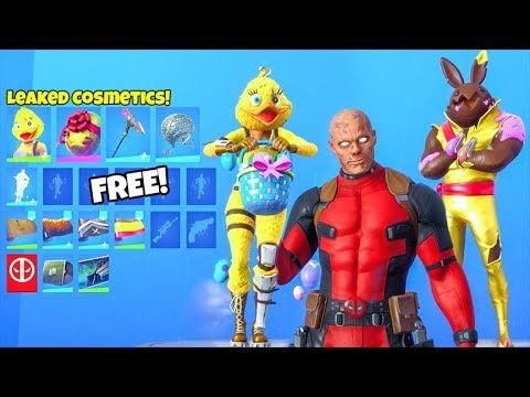 *NEW* Skins & Emotes LEAKED..! (UNMASKED Deadpool, Duck Skin, Hoppity Emote) Fortnite Battle Royale