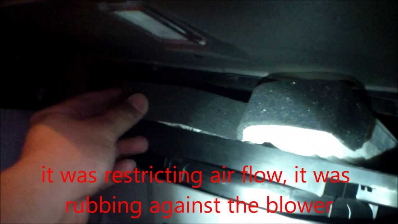 How to replace cabin air filter 2008 Kia Sedona  YouTube