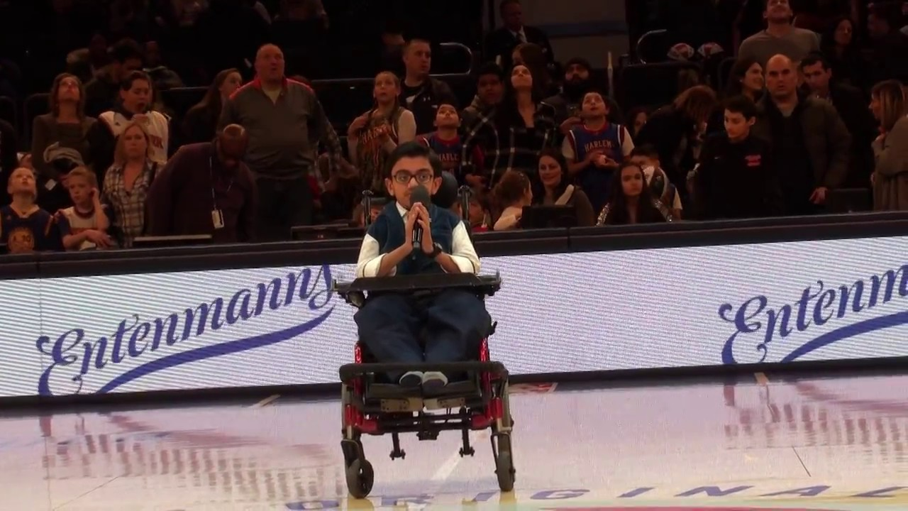 God Bless America By Sparsh Shah For Harlem Globetrotters Game At Madison Square Garden Youtube