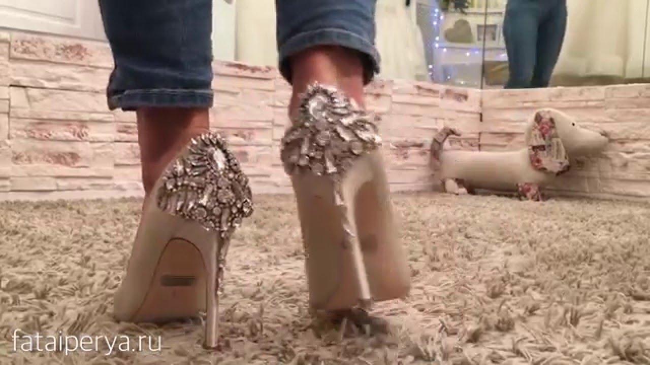 Свадебная обувь. Свадебные сапоги. - YouTube