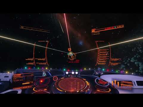 Elite Dangerous - Testing Cutter turret loadout vs Elite Anaconda PVE