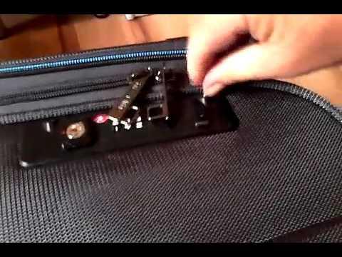 travelite koffer schloss einstellen
