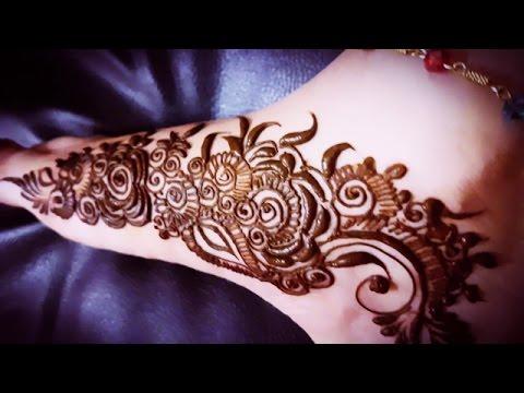 Easy Khaleeji Henna Design For Foot Simple Arabic Henna Art