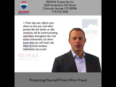 Protecting Yourself From Wire Fraud - RE/MAX Properties, Inc.