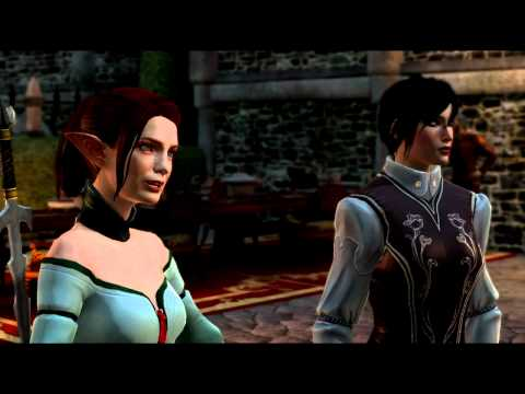 Dragon Age 2 Funny Moments MotA (Hawke/Tallis/Fenris/Anders) And Fenris' Jealous Reactions