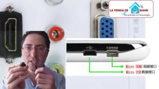 como puedo conectar mi celular al TV micro usb vs micro hdmi