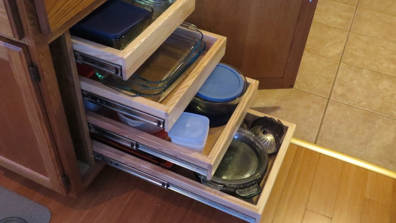 Building Pull Out Cabinet Shelves