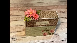 Tutorial Stationery Gift Box Stamperia Spring Botanic Shellie Geigle Js Hobbies And Crafts