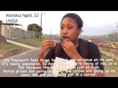 Transportation expenses for students in Durban, South Africa