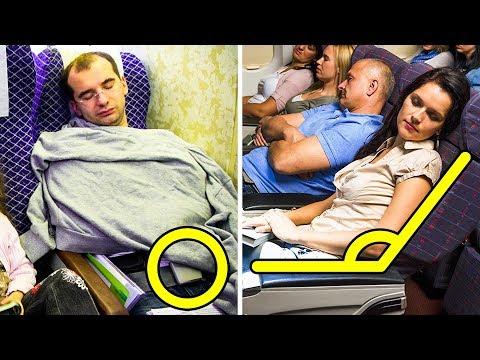 عشر حيل غير مشهورة للنوم المثالي على متن الطائرة