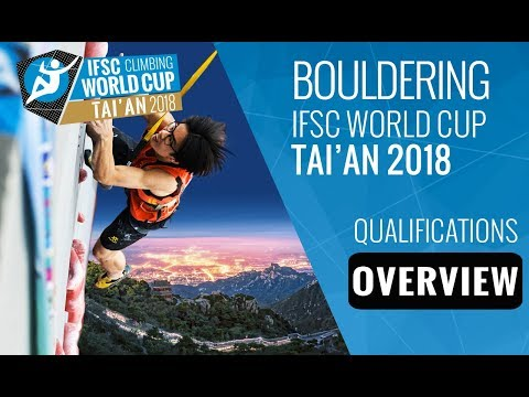 IFSC Climbing World Cup Tai'an 2018 - Bouldering Qualifications Overview