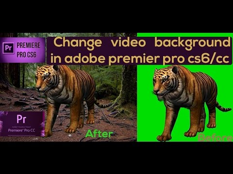 How To Change Background In Adobe Premiere Pro Cs6/cc