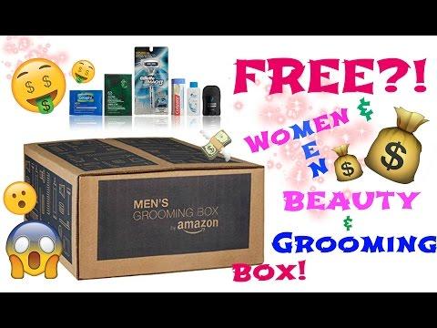 FREE!! Amazon Box for WOMEN & MEN?! - UNBOXING - 동영상
