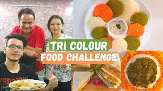Tri Colour Food Challenge ( Independence Day Special)