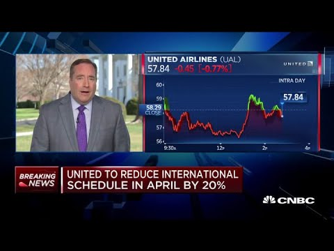 United to cut back on April international schedule by 20%, domestic by 10%