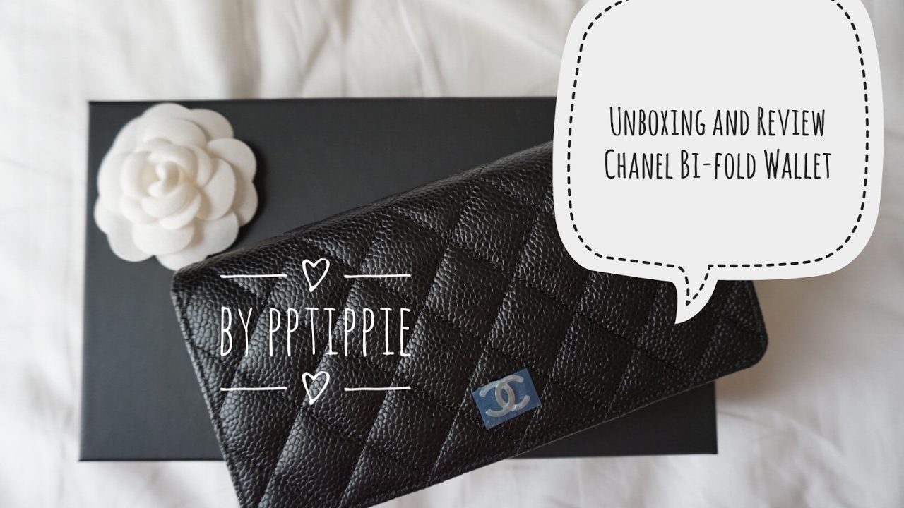 8250caef07a1 Unboxing and Review Chanel bi-fold Wallet - YouTube