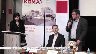 Reportáž Regionální televize o akci Ozvěny z EXPA Miláno 2015 - Národní technické muzeum a Koma Modular s.r.o.