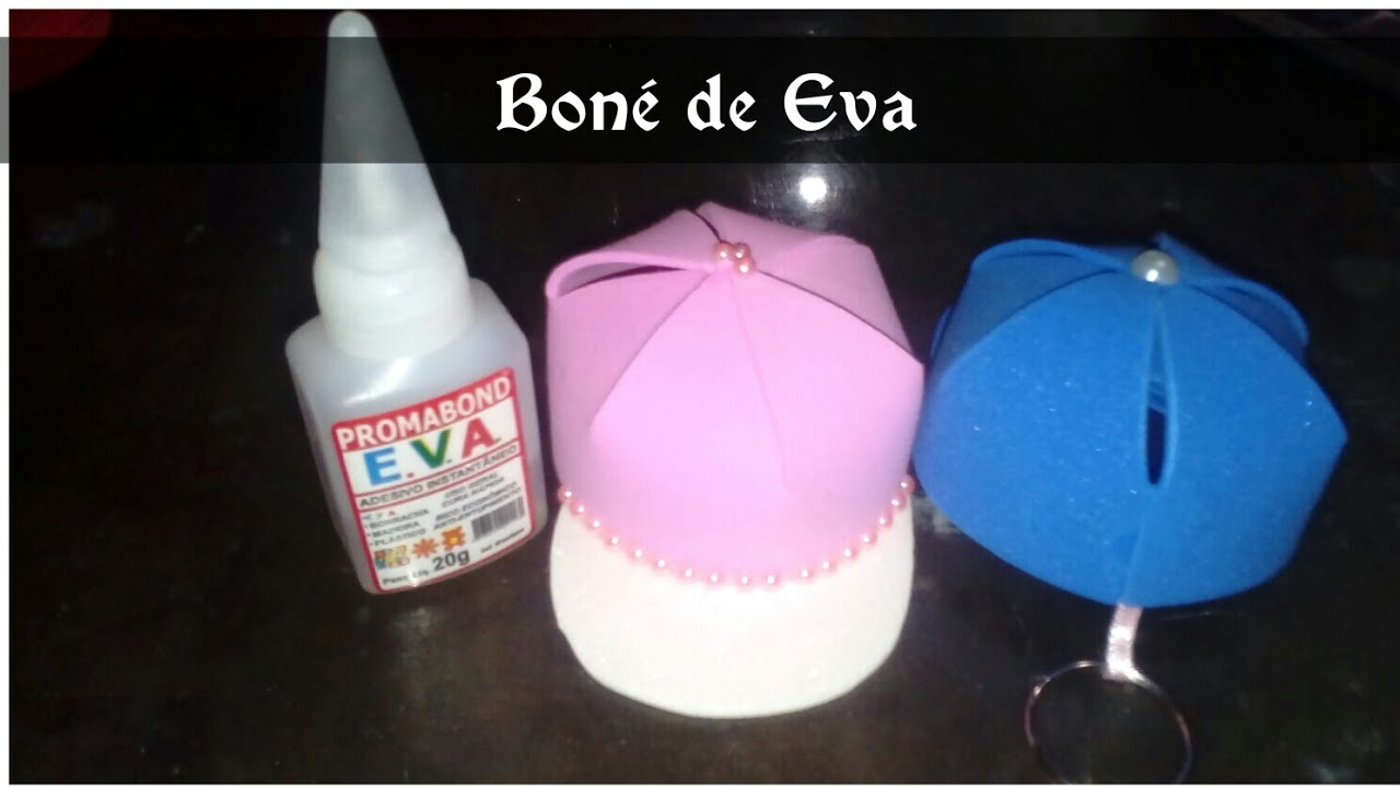 COMO FAZER BONÉ CHAVEIRO EM EVA - YouTube 2f025e4b9b3