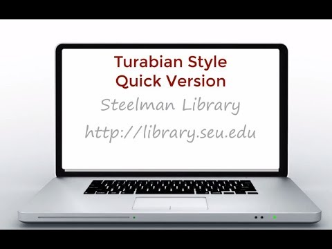 Turabian term papers