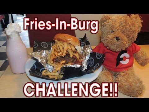 Speed Eating Burgers, Fries, and a Milkshake!!