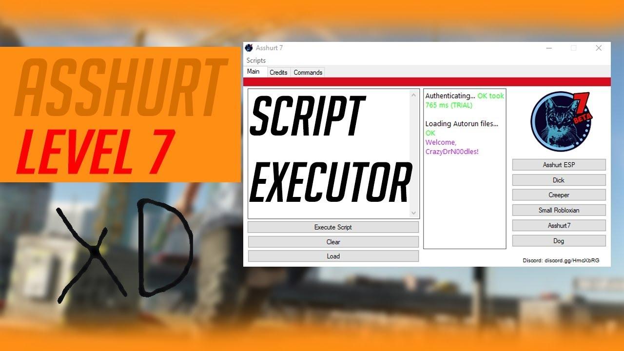 ✔️[LEVEL 7] ASSHURT!!! SCRIPT EXECUTOR!!! ✔️ ROBLOX HACK/EXPLOIT!!! REAL  SCRIPT EXECUTOR! ✔️2017✔️