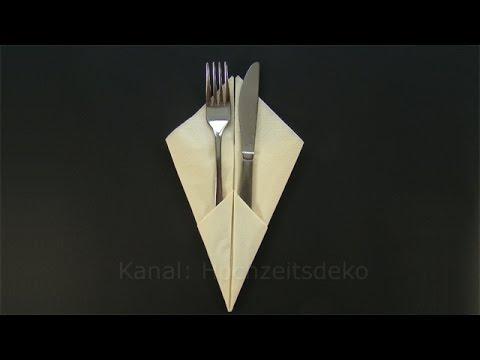 Besteck In Serviette Einrollen servietten falten einfach besteck wickeln leichte bestecktasche