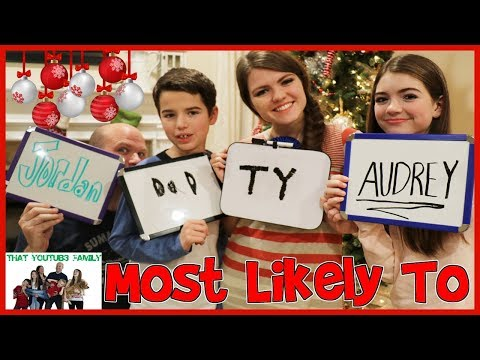 Holiday Who's Most Likely To Challenge / That YouTub3 Family