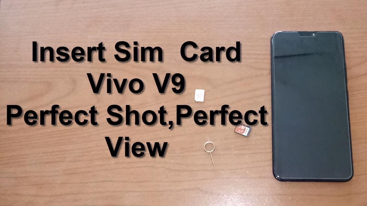 How To Insert Sim Card and MicroSD Card Vivo V9 Black