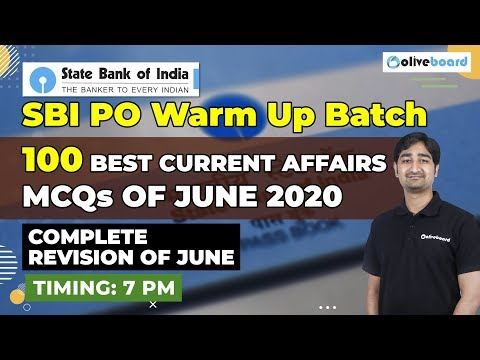 100 Best Current Affairs MCQs Of June 2020   Current Affairs   SBI PO   SBI PO Warm Up