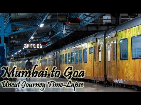 Uncut Journey Mumbai to Goa in 28 Minutes.!! The Tejas Express Time-Lapse..!!