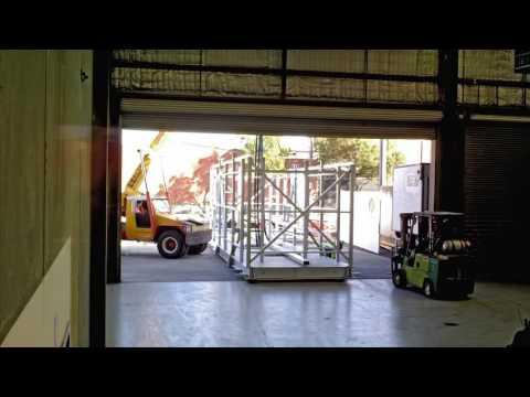 LNG Custody Transfer Project - Sample Shelter Framework Arrival