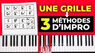 3 méthodes pour improviser au piano sur une grille d'accords (niveau débutant à avancé)