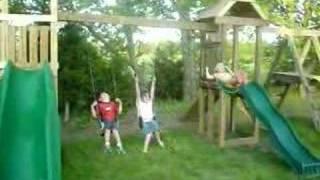 New Swing Set Jungle Gym