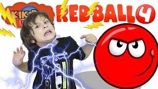 🔴 НОВЫЙ КРАСНЫЙ ШАРИК 🚀ПОЛЕТ на ЛУНУ Мультик Прохождение RED BALL 4 Видео для детей КОНКУРС Кикидо