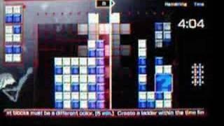 Lumines Live Puzzle Mode - Puzzle 55 - Ladder