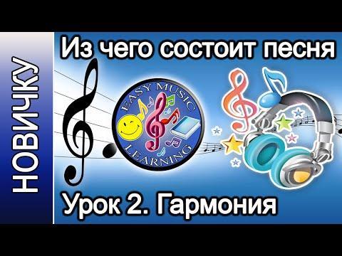 Из чего состоит песня на примере. Урок 2 - Гармония | Новичку | Easy Music Learning