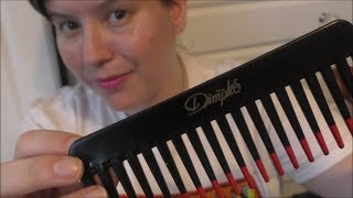 Comb #ASMR  - Whispering * Combing Camera * Tapping - Relaxing & Tingly -