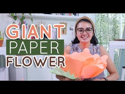 DIY Giant Paper Flower | MARTHA PURI - IDEKU HANDMADE (Bahasa Indonesia)