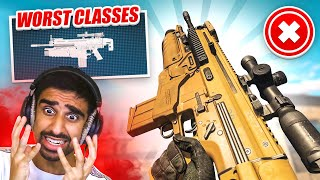Using the WORST CLASSES POSSIBLE in WARZONE