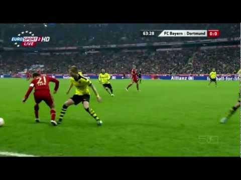 Javi Martínez brilliant play against Dortmund[12/13]