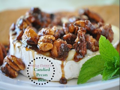 How to make Simple Baked Brie with Candied Pecan Topping-Div