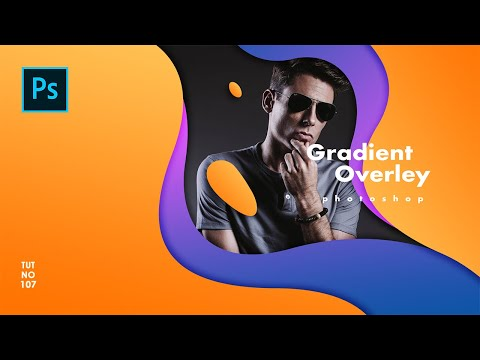 How To Create Gradient Shape For Poster Design In Photoshop - Photoshop Tutorials