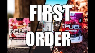 #VLOG 2 | FIRST EVER TIME TRYING GFUEL ENERGY DRINK!| + FORTNITE GALAXY SKIN WINNER!