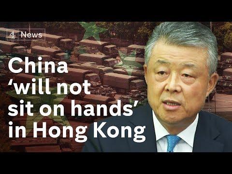 Hong Kong protests: China sends paramilitary police to the border