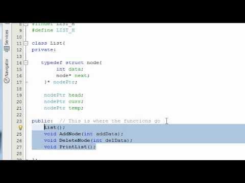 how to create list c