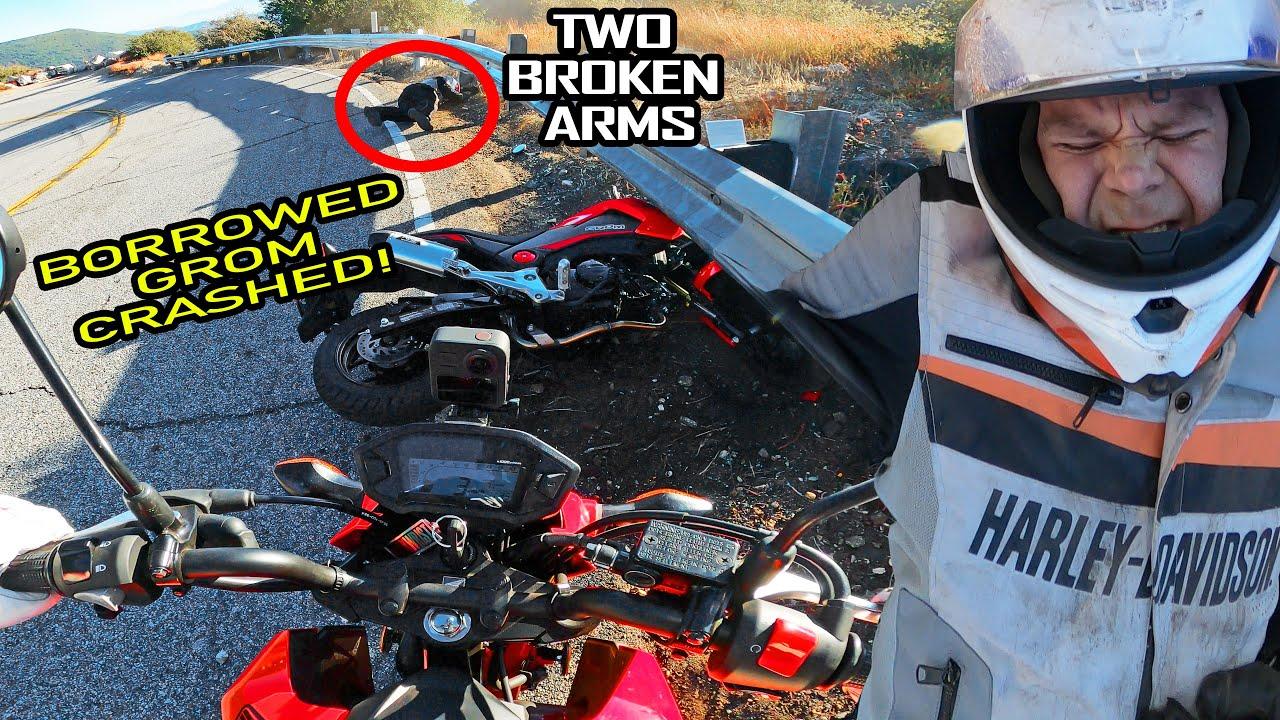 Download Borrowed Grom Crashed   Broke Both Arms