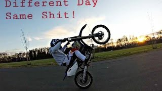 Different Day-Same Shit l First Sunny Days ll YamahaXT125 ll YamahaYZ85