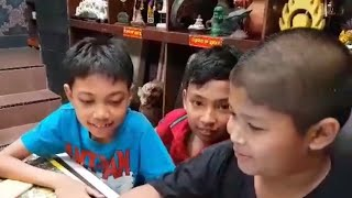 ( FAMILY ) DAVE - FILO - NAUFAL  SEPATU CEWEK CUKUR GUNDUL  SALON ARTI BERENANG TIDAK BELAJAR NAKAL