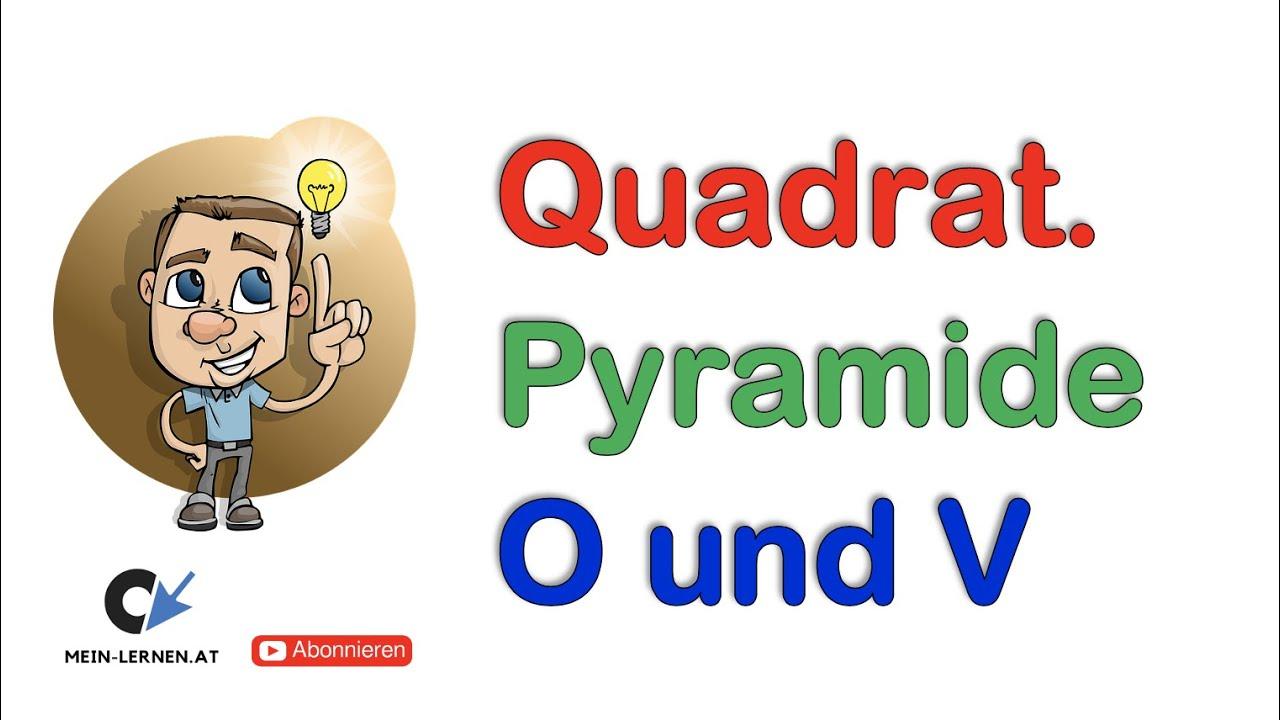 Quadratische Pyramide Oberfläche und Volumen - YouTube