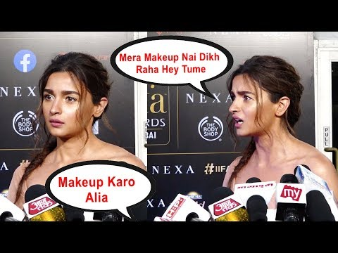Alia Makeup Nai Kiya !!!! Alia Bhatt Gets ANGRY On Reporter At Iifa Award 2019